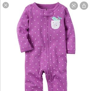 Carter's Purple Whale Baby Pajamas